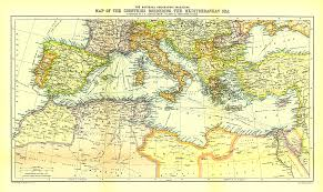 the sea map countries bordering the mediterranean sea map