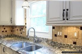 ideas for kitchen backsplash with granite countertops brown glass travertine backsplash granite countertop backsplash