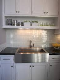 kitchen backsplash glass tile kitchen pretty kitchen white glass backsplash cabinets blue