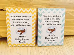 seed packet favors 35 baby shower seed packet favors airplane baby shower