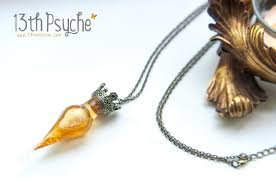 necklace golden images Golden potion bottle necklace magic potion vial necklace fantasy jpg