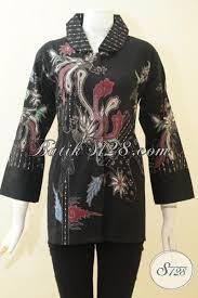 desain baju batik halus batik blus elegan warna hitam baju batik wanita motif modern