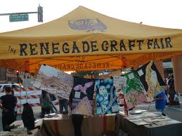 renegade craft fair in wicker park on division street in chicago