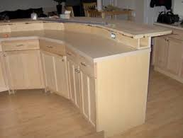kitchen island construction construction detail 2 tier kitchen island with electrical in bump