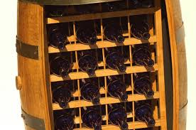 wine barrel furniture cabinet 24 bottle display rack on casters