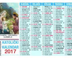Crkveni Kalendar Za 2018 Katolicki Kalendari 2017 Svetište M B Tekije