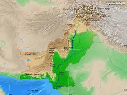 Himalayan Mts Map Pakistan Physical Map A Learning Family