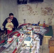1950s christmas model train set up photo u2013 inherited values