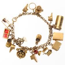 vintage charm bracelet necklace images Vintage charm bracelet 14k yellow gold jpg