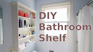 building a diy bathroom wall shelf for less than 20 youtube
