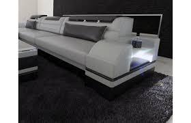 couch schwarz grau ledersofa parma als l form ist die perfekte couch als ecksofa