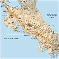 Map Costa Rica Map Of Costa Rica With Nicaragua To The North And Panama To The