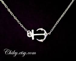 Items Similar To Love Anchors - silver anchor necklace anchor charm necklace sterling silver
