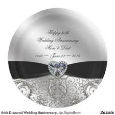 60th anniversary plates gorgeous diamond 60th anniversary plates custom plates