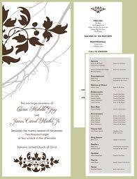 wedding programs wording wedding program wording the wedding printer