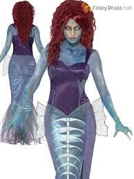 ladies zombie mermaid costume unusual halloween fancy dress