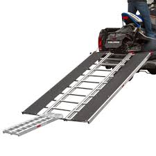 Steel Sled Deck Plans by Black Ice Tri Fold Snowmobile Trailer Ramps Discount Ramps