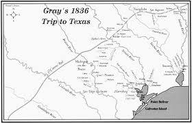 Smu Map Diary Of William Fairfax Gray Virginia To Texas 1835 1837