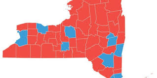Ithaca Map Upstate Sees Red Most Ny Counties Voted For Change