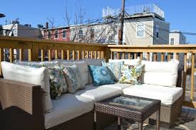 Apartment Patio Ideas Apartments Elegant And Comfortable Wooden Apartment Balcony