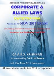 buy corporate and allied laws for ca final nov 2017 exam book