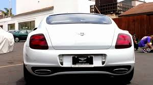 matte white bentley bentley continental gt supersports white rear seat option youtube