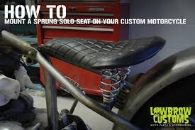 how to mount a sprung solo seat on your custom motorcycle