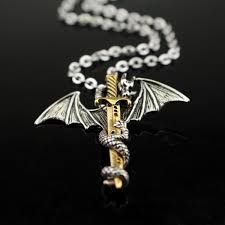 necklace dragon images Flying dragon sword pendant necklace iwisb jpg