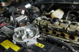 Turbine Engine Mechanic Auto Repair Spare Part Turbine During Automobile Car Maintenance