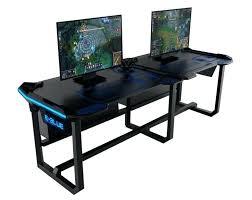 Ikea Gaming Desk Blue Computer Desk Interior Gaming Desks E Blue Wireless Glow