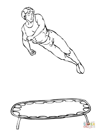 gymnastics coloring page athlete on trampoline coloring page free printable coloring pages