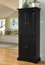 Kitchen Storage Pantry Cabinet With Black Small And Long Cabinet - Black kitchen pantry cabinet
