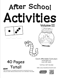 after school activities iii carols affordable curriculum