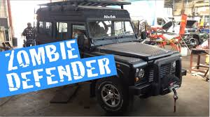 land rover truck james bond zombie apocalypse defender 110 youtube