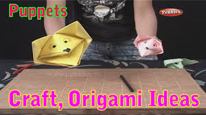 hand puppets learn craft for kids origami for children craft