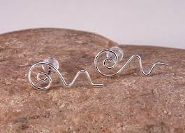 sterling silver earrings sensitive ears 684 best wire jewelry bisuteria en alambre images on