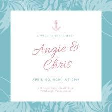 beachy wedding invitations customize 96 wedding invitation templates online canva