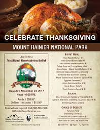 thanksgiving buffet at national park inn mt rainier national
