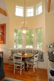 Bench Seating For Dining Room by Curved Bench Seating Dining Room Traditional With Banquette