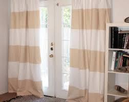 Striped Curtain Panels Horizontal Striped Drapes Etsy