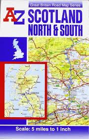 Road Map Of Scotland Scotland Road Map A Z Road Maps U0026 Atlases Amazon De