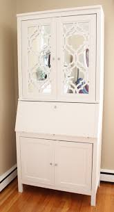 Secretary Desk With Hutch by Diy Mirrored Secretary Desk Using Hemnes Secretary With Add On