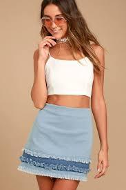 light wash denim skirt cute light wash skirt denim skirt mini skirt