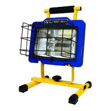 hdx portable halogen work light voltec 600 watt pro halogen work light 08 00613 the home depot