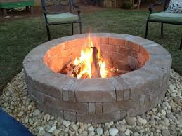 Firepit Rock Outstanding Rumblestone Firepit With River Surround And