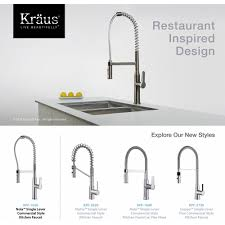 kraus kpf 1650ss nola stainless steel pro pre rinse units kitchen