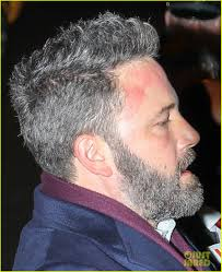 images of sallt and pepper hair ben affleck is embracing his gray hair see his salt pepper