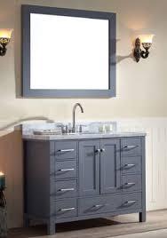 43 Vanity Top With Sink Ace 43 Inch Single Sink Bathroom Vanity Set In Grey Finish