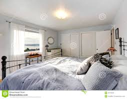 Old Fashioned Bedroom by Old Fashioned Bedroom With Iron Frame Bed Stock Photo Image
