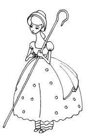 bo peep beautiful toy story coloring pages toy